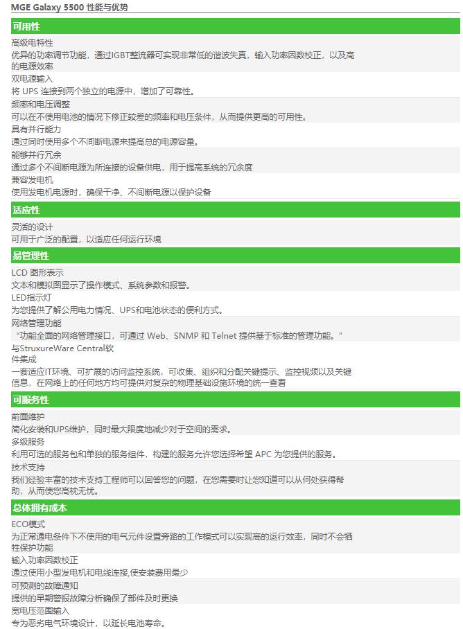 APC UPS电源 G55TD100120B1参数性能优势