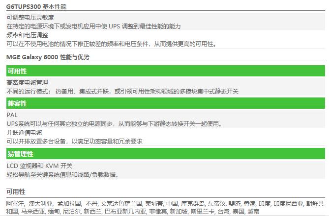 APC UPS G6TUPS300性能优势